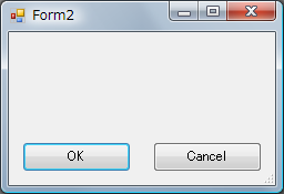【C++/CLI】ウィンドウの押されたボタンを取得(DialogResultプロパティ)