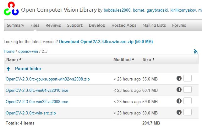OpenCV2.3