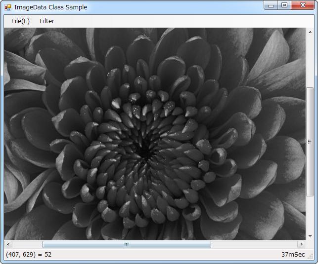 ImageDataクラス サンプルプログラム