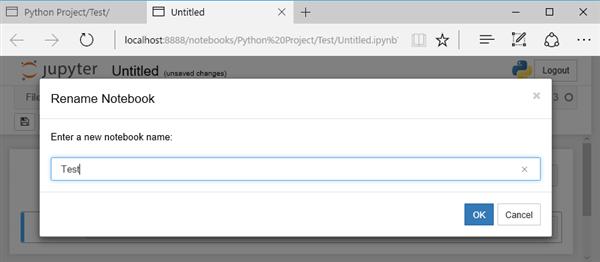 Jupyter Notebook 新規プログラムの作成
