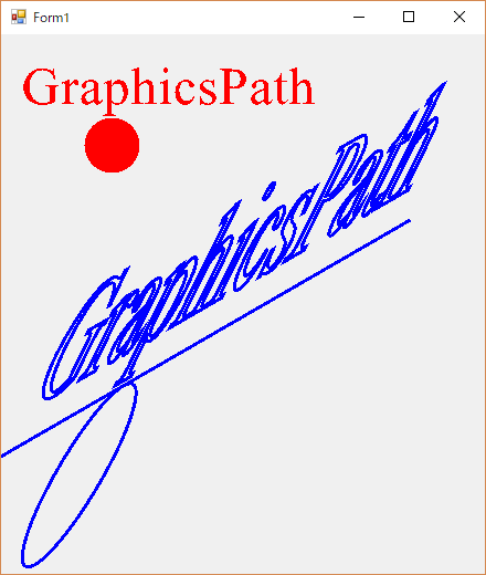 C# GraphicsPathの描画