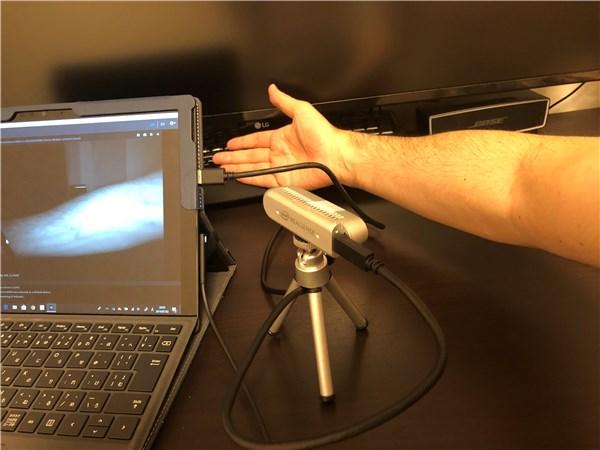 Intel D435で血管の撮影