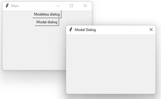 Python tkinter 新しいウィンドウを開く モーダル モードレス
